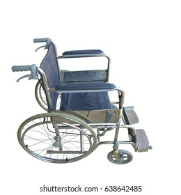 Wheel chair isolated on white background.This has clipping path.