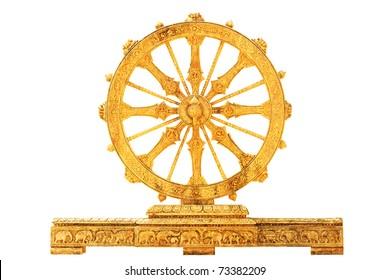 Wheel of dharma - isolated