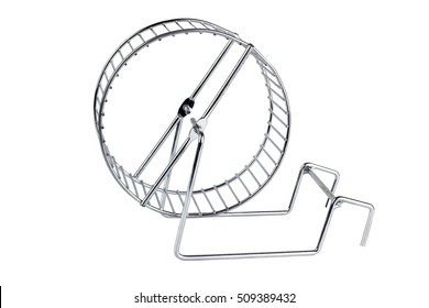 wheel for the hamster on a white background