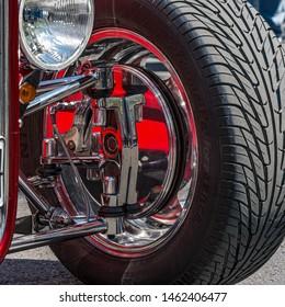 Wheel of a Hotrod showcar