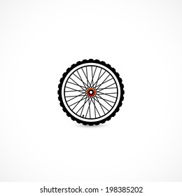 wheel icon isolated on a white background