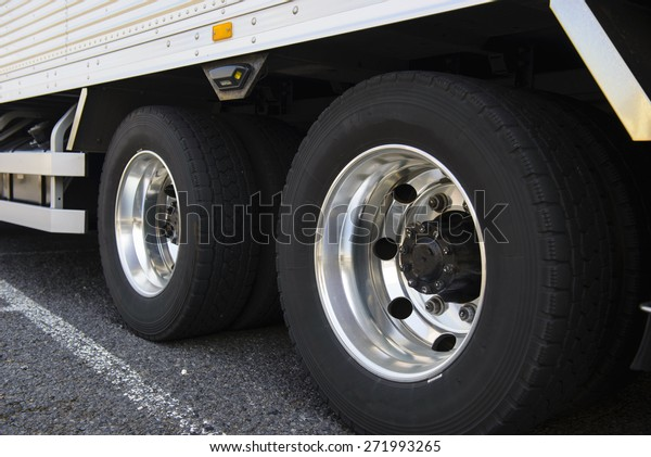 Wheel of large truck and trailers
