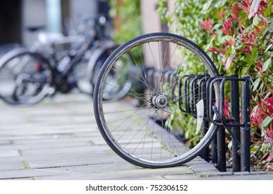 Wheel left locked after bike was stolen