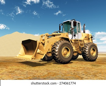 Wheel Loader Computer generated 3D illustration