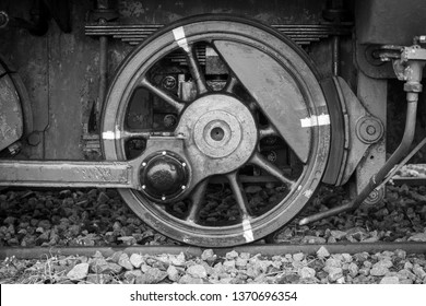 Wheel of a old train