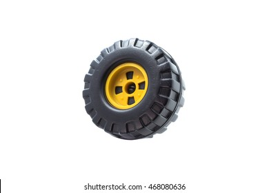 Wheel on white background