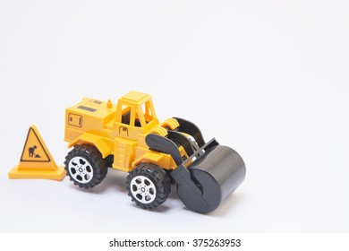 Wheel Road toys yellow background white