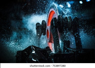 Wheel rolling mill
