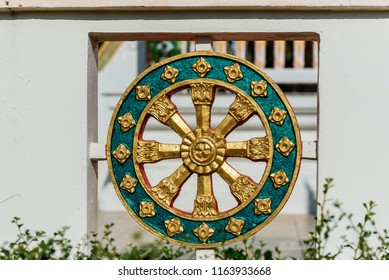 Wheel of samsara in a Buddhist temple