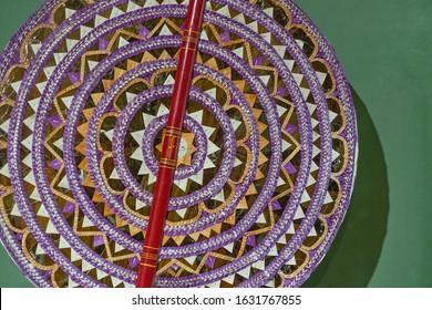 Wheel of samsara in a Buddhist temple, Sri Lanka