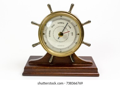 Wheel shape barometer.