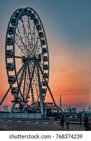 wheel sunset dubai