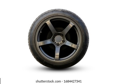 Wheel super car isolated with Clipping path.