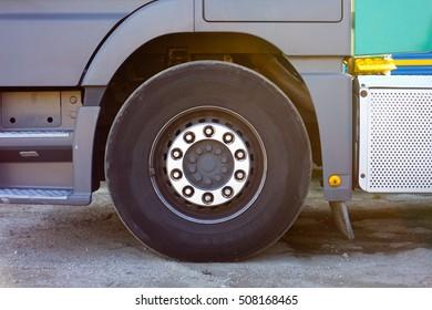 wheel of a truck