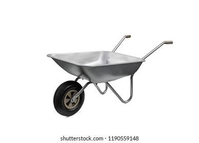Wheelbarrow isolated on white background