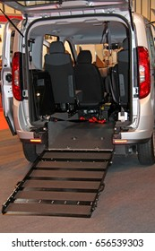 A Wheelchair Access Ramp at the Rear of a Vehicle.