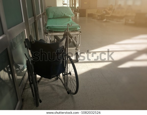 Wheelchair Bed Government Hospital Concept Disability Stock
