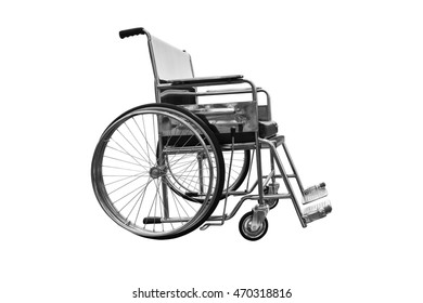 Wheelchair black and white tone