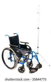 wheelchair for handicaped on white background