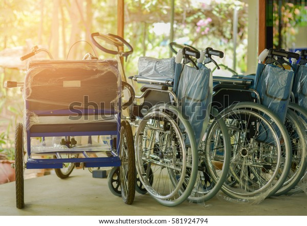 Wheelchair for hospital patients. Equipment Facilities.