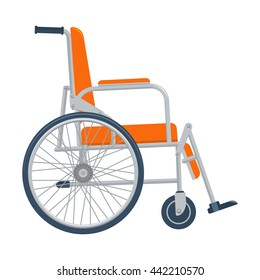 Wheelchair illustration isolated on a white background