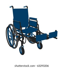 Wheelchair illustration on a white background