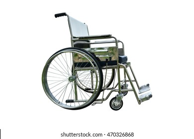 Wheelchair on white