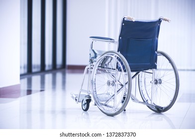 Wheelchair for patients. Selective focus