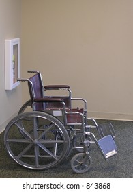 Wheelchair is provided by institutions for disabled visitors.