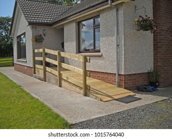 Wheelchair Ramp Fitted To Front Of Home
