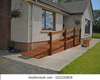 Wheelchair Ramp fitted to front of home 2a