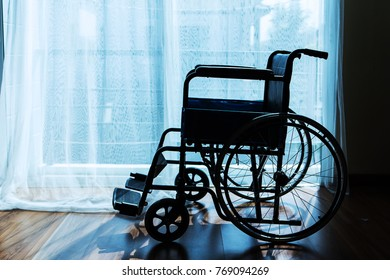 Wheelchair in room