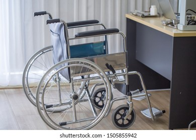 Wheelchair service patient to visit the doctor at the hospital.Healthcare concept.
