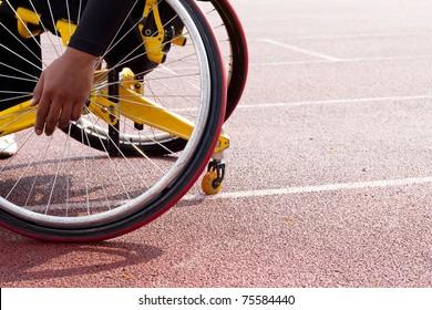 wheelchair sportsmen on track