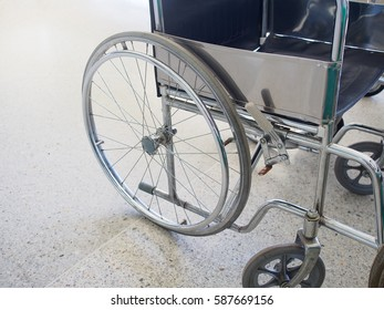 Wheelchair stand by in hospital