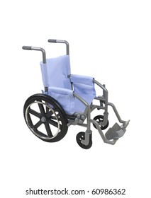 Wheelchair used for assistance in personal transportation when ambulatory methods are unavailable - path included