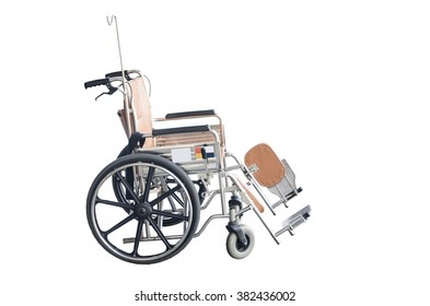 wheelchairs For patients with handicapped arm weakness, weakness and paralysis. Brown selective focus on white background