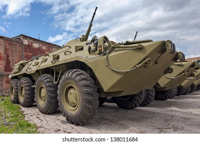 Wheeled amphibious armoured personnel carrier BTR-80