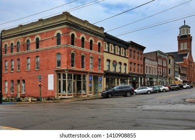 WHEELING, WEST VIRGINIA/UNITED STATES - APRIL 25, 2019:  The City Centre area of Wheeling, West Virginia is a popular travel and tourism location in the downtown district of the city.