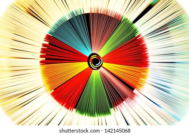Wheels made of colored paper