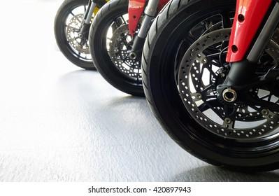wheels of motobike