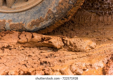 Wheels with mud