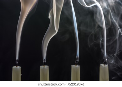 When Christmas is over, the candles are blown out