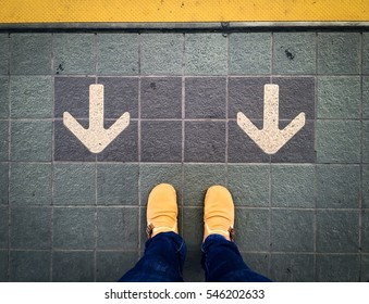 When faced with a stalemate, you have to decide whether to walk through or move backward.