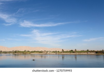 When nature shows her true Beauty, you just have to say to her that's really nice to see you again. A magical morning on the river nile between Luxor and Aswan.   December 2018, Aswan, Egypt.