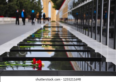 When the Soviet Army attacked Baku in 1990, the victims of the January 20 tragedy visited the Martyrs Alley, 137 died and 744 were injured. Azerbaijan, Baku, 19 January 2018.