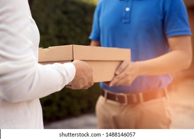 When you are at home but want to order online. The staff will deliver the parcel to you at home.