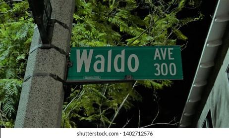 Where's Waldo Street Sign City