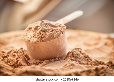 Whey protein scoop. Sports nutrition.