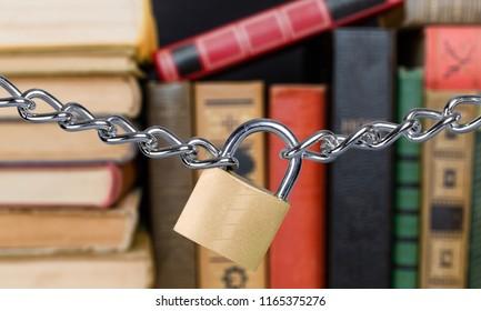 Which lie forbidden books bound